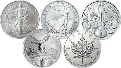 999 Silver 1oz Bullion Coins Maple Leaf Britannia Australian Lunar and many more