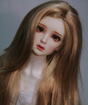 1/3 1/4 1/6 1/8 BJD Doll Wig Long Hair Curly Wavy Brown For AOD RD LUTS Dollfie