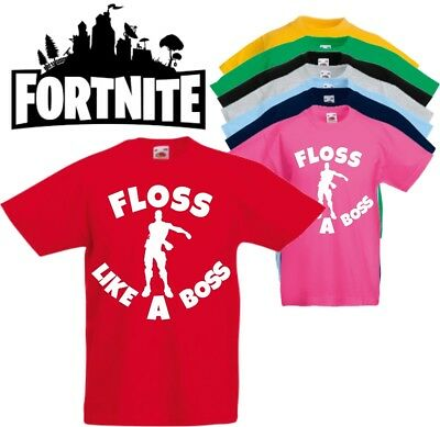 7ab2430c FLOSS LIKE A BOSS -- FORTNITE DANCE KIDS T-SHIRT dab childrens child tee