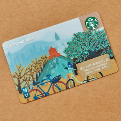 New Starbucks 2018 China Xian Gift Card Pin Intact- Kansas sister city