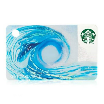 2018 New Starbucks China Ocean Wave/sea wave Mini Gift Card Pin intact