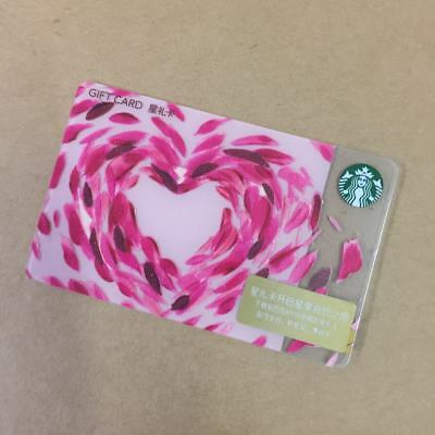 2018 New Starbucks China Romantic Love Gift Card Pin Intact