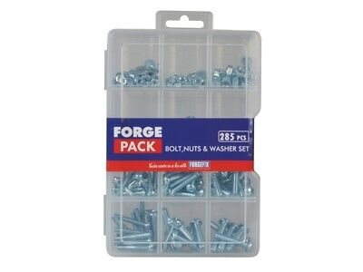ForgeFix FORFPNWSET Hexagon Bolt Nut & Washer Kit Forge Pack 285 Piece