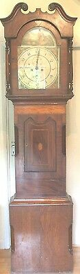 19th Century Mahogany 2 Weights  8 Days Striking Movement Grandfather Clock GWO