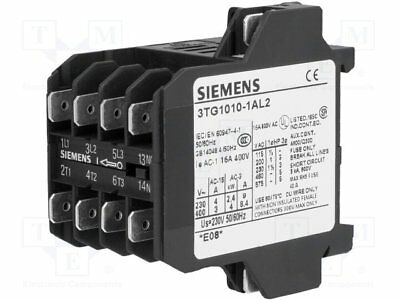 Contactor:4-pole; 230VAC; 8.4A; NO x4; DIN, on panel; 3TG10 (1pcs)