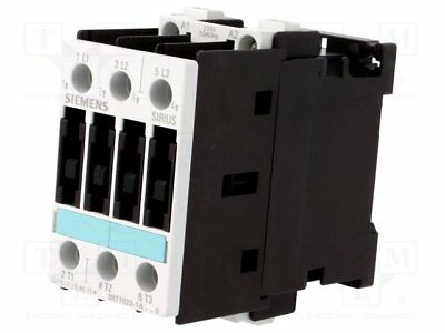 Contactor:3-pole; 230VAC; 9A; NO x3; DIN, on panel; 3RT10; Size: S0 (1pcs)