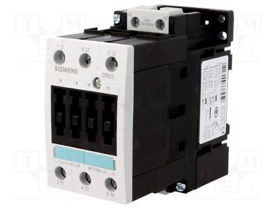 Contactor:3-pole; 24VAC; 40A; NO x3; DIN, on panel; 3RT10; Size: S2 (1pcs)