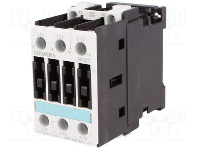 Contactor:3-pole; 230VAC; 12A; NO x3; DIN, on panel; 3RT10; Size: S0 (1pcs)