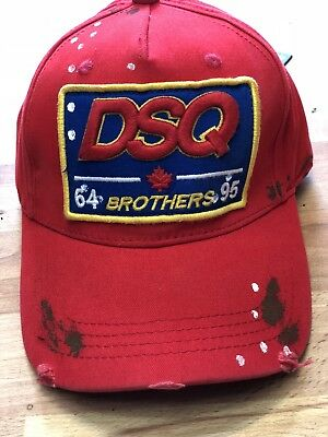 DSQUARED EMBROIDERED RED Baseball Cap