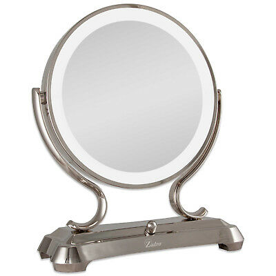 Zadro 1x/5x Magnifying Oversized Fluorescent Lighted Glamour Vanity Mirror