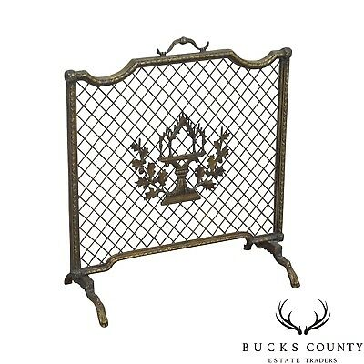 Maitland Smith French Louis XV Style Rococo Bronze Fire Screen