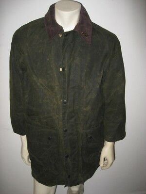 BARBOUR Olive Green GAMEFAIR JACKET Waxed Cotton Size 38 MEDIUM