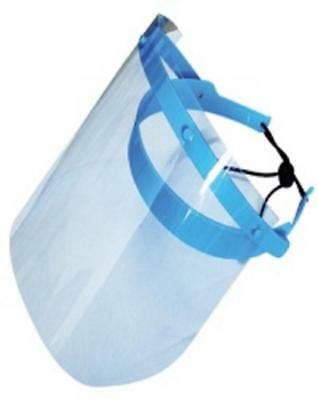 DENTAL MEDICAL PROTECTIVE DETACHABLE FACE SHIELD Anti FOG- Blue FRAME