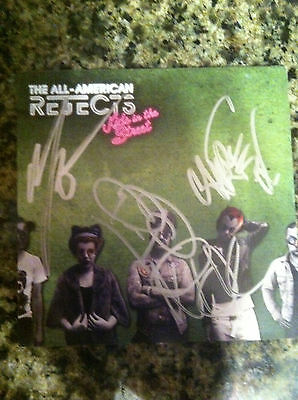 All American Rejects cd Kids in the Street  signed autographed NEW
