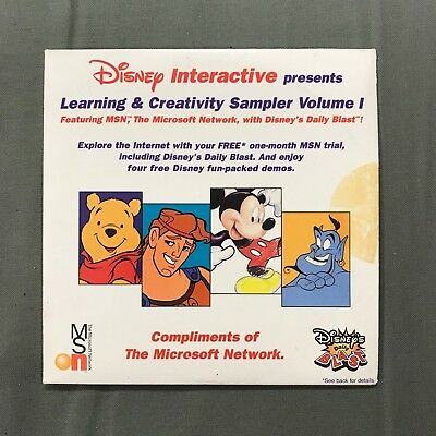 (GMG) Disney Interactive Learning and Creativity Sampler Vol 1 (PC-CD Demo Disc)