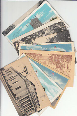 Lot of 10 Vintage Era Framingham Massachusetts Postcards Middlesex County MASS