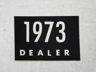1973 Delaware dealer license plate sticker