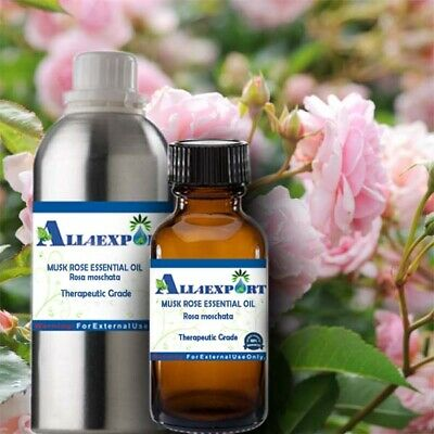 PURE MUSK ROSE ESSENTIAL OIL Rosa moschata NATURAL HERBAL AROMATHERAPY COSMETIC
