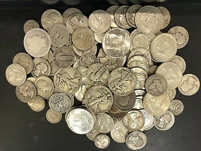 $1 Face Value 90% Junk Silver U.S. Coin Lot Half Dollars, Quarters or Dimes
