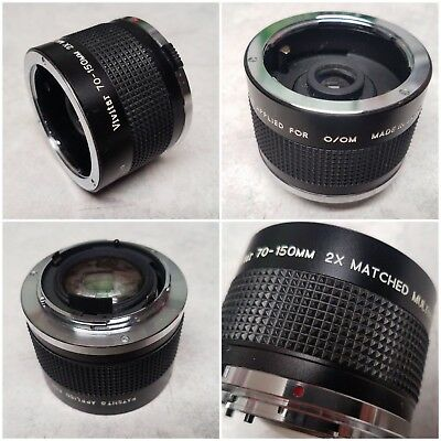 VIVITAR MC 70-150mm 2X MATCHED MULTIPLIER for OM OLYMPUS MOUNT