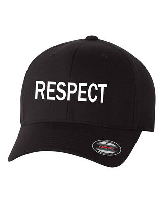 RESPECT  Flex Fit HAT CURVED or FLAT BILL *FREE SHIPPING in BOX*