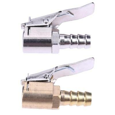 Tire Inflator Nozzle Valve Chuck Brass Connector Clip-on For Car Motorcycles 1pc