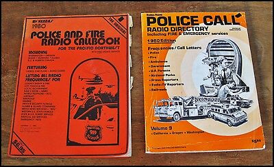 2 Vtg 1980 POLICE / FIRE RADIO CALL Code BOOKS 1 is for the PACIFIC NW