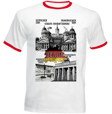 Berlin Germany - New Cotton Red Ringer Tshirt