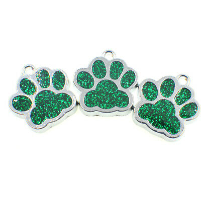 Glitter Paw Engraved Dog Id Name Tag Disc Personalised Pet Cat Identity R3I9T