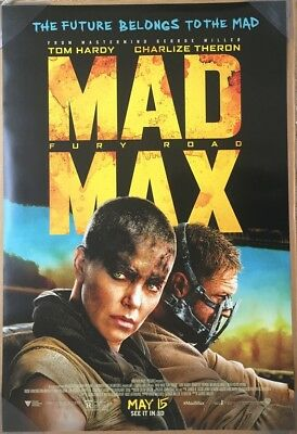 MAD MAX FURY ROAD MOVIE POSTER 2 Sided ORIGINAL FINAL 27x40 TOM HARDY