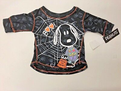 12 M Snoopy halloween  long sleeve t-shirt trick or treat NWT girls dress up