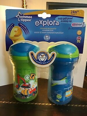 Tommee Tippee 24 M+ explora HTF. Easiflow drinking cups NEW