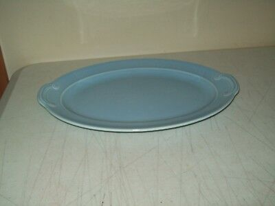 "LuRay Pastels dinnerware by Taylor Smith & Taylor 12"" oval platter Windsor Blue"