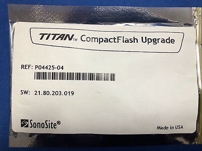 Sonosite Titan Compact Flash Upgrade - Reference: P04425-04 - New