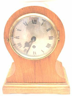 Tame Side British No.19661 Balloon Oak Cased Fusee Movement Mantle Clock GWO