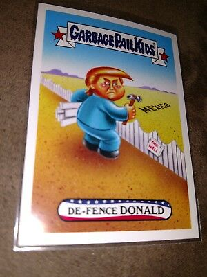 #75 Disgrace to the White House Garbage Pail Kids De-Fence Donald Trump Spoof