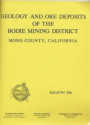 Bodie, Mono County, Calif gold mines, 1st ed book, FIVE HUGE separate maps, VG+