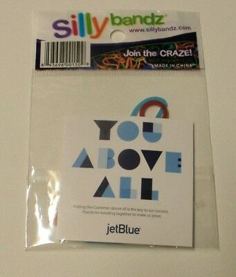JetBlue Airways You Above All Campaign Silly Bandz (new) RARE