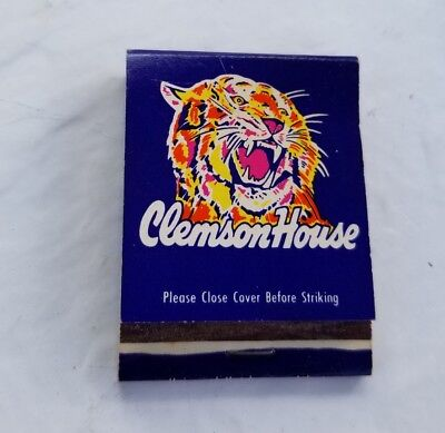 Vintage Matchbook The Clemson House Hotel University South Carolina Aaa Approved