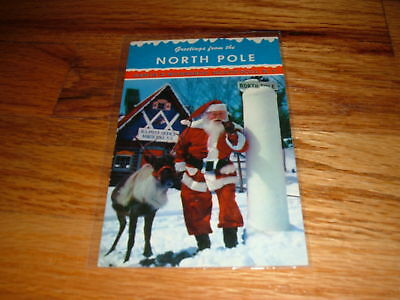 GREETINGS FROM NORTH POLE Vintag Santa's Workshop NY POSTCARD Claus Christmas
