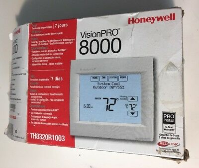 Honeywell VisionPro 8000 TH8320R1003 Redlink Touchscreen Thermostat Up To 3H/2C