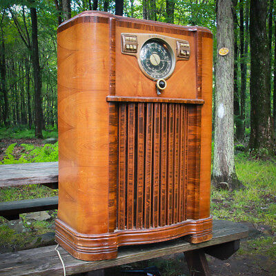 📻 1941 Zenith Console Tube Radio 8S563X 8A02 Wave Magnet AM SW Police Bands 📻