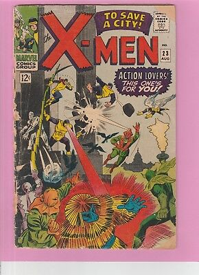 The X-men #23 vs many villains, Silver Age