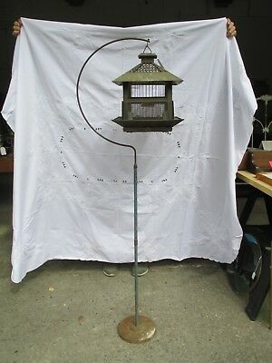 Vintage Bird Cage  with stand  Antique Original 1908 Hendryx New Style Mission