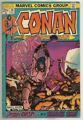 CONAN THE BARBARIAN #19 (Classic Barry WIndsor Smith Art) Marvel, 1972