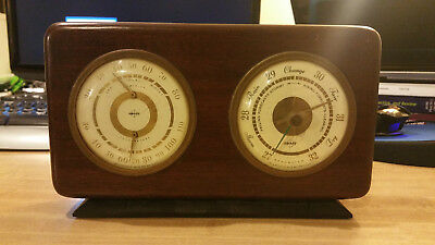 Mahogany Weather Station Swift & Anderson Temperature, Humidity and Barometer