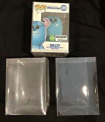 "(5) X FUNKO POP! PROTECTORS FOR 4"" VINYLS - Acid Free,Crystal clear, perfect fit"