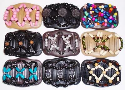 """Butterfly Double Hair Comb, Angel Wings Combs 4x3.5"""", African Magic, Quality S19"""
