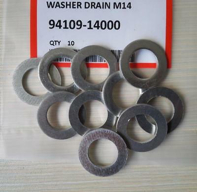 10Pcs Drain Plug Washer Fit For Accord 94109-14000 M14 Oil Pan Bolt Metal Washer