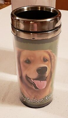 I Love My Golden Retriever Insulated Cup * New In Box  *